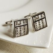 For the accountant, novelty abacus cufflinks available at Lorient Gift Dun Laoghaire 15%OFF PROMO during the sale