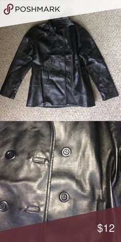 Girls leather jacket Girls size 14/16 (large) in good condition except for a small scuff mark Jackets & Coats Raincoats