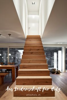 Wooden Stairs, Home Decor, Engineered Wood, Wooden Ladders, Wooden Staircases, Decoration Home, Room Decor, Home Interior Design, Hardwood Stairs
