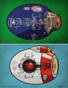 Mega Man X Buster Schematic Set by TheDailyRobot on Etsy, $20.00
