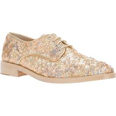 Markus Lupfer Sequined Brogue ($475) ❤ liked on Polyvore