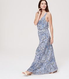 Image of Paisley Strappy Maxi Dress