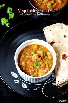 hotel style veg kurma recipe also known as veg korma is a delicious curry made of mix veggies and spices. Serve veg kurma with rice, naan, puri, paratha Curry Recipes, Organic Recipes, Vegetable Recipes, Indian Food Recipes, Ethnic Recipes, Kerala Recipes, Aloo Recipes, Veg Kurma Recipe, Vegetable Korma Recipe