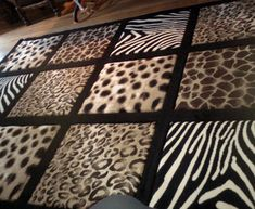 cowhide decoratin ideas | animal print decorations for living room