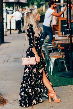 Blondie in the City | Black Floral Maxi Dress | Summer Style