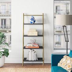 "Westerleigh TV Stand for TVs up to 65"" & Reviews | Joss & Main Grey Shelves, Metal Shelves, Open Shelving, Adjustable Shelving, Shelving Design, Bookshelf Design, Etagere Bookcase, Ladder Bookcase, Bookcases"
