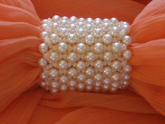 A pearl-on-pearl scarf ring made of Swarovski pearls and Miyuki seed beads. $30 Scarf Rings, Swarovski Pearls, Scarfs, Seed Beads, Beading, Pearl Necklace, House, Jewelry, Ideas