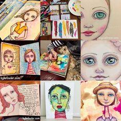 Best nine of 2017. . . . #best9of2017 #kyliefowler #mixedmedia #artist #aussieartist #illustrator #whimsical #portraits #faces #eyes #bringon2018  #mixedmediaart #portraitartist #artjounalist #artjournaler #arteveryday