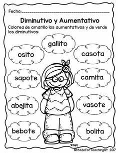 Ficha con ejercicios sobre el verbo, para niños de 2do