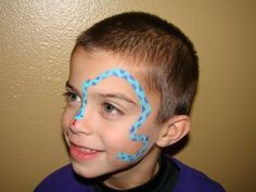 Face Paintings: Face Painting Animals For Kids Snake Face Paint, Diy Face Paint, Simple Face Paint Designs, Face Painting Designs, Animal Face Paintings, Animal Faces, Boy Face, Child Face, Face Painting For Boys