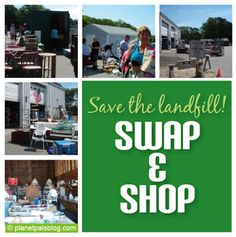 Does your town have a SWAP shop at the not why not? Here's how it works! Shop The Town Swap And Save The Landfill Swap Shop, Recycled Crafts, Yard Sale, Reuse, Works Shop, Recycling, Green, Tips, Blog