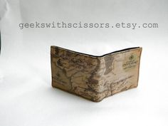 Middle Earth Map Wallet by GeeksWithScissors on Etsy
