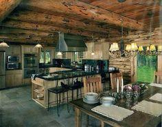 Log House Kitchen♥ Love it ❣❣❣