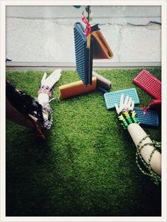 #lafemmemimi #fashion #designer #womensfashion #prague #window #mannequin #hand #colors #wallet #bracelet