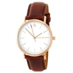 Watches for men Daniel Wellington, Couleur Or Rose, Boys Watches, Bracelet Cuir, Stylish Watches, Watch Brands, Quartz Watch, Black And Brown, Leather