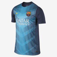 Nike FC Barcelona Squad Pre-Match Men's Soccer Jersey