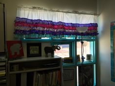 Shabby chic classroom curtains