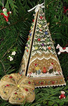 Gingerbread Tree Etui da Victoria Sampler - Schemi Punto Croce - Ricamo - Casa Cenina