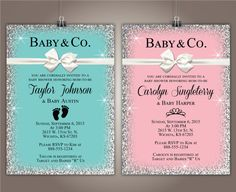 Baby & Co. Baby Shower Invitation 5x7 Girl by SimpleandStunning2