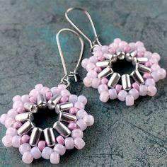 Free Pattern Inti Earrings with Matubo Beads ~ Seed Bead Tutorials