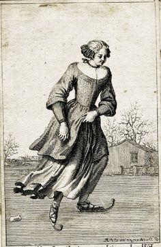 Fille de petit bourgeois d'Amsterdam... Bernard Picart (French engraver, 1673-1733) Ice Skater