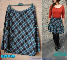 Refashion Co-op: how to make a ruffle skirt ---> skirt refashion