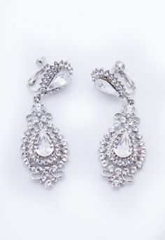 For The Princess Bride: Add gorgeous Princess glamour with the Selene earrings from Twinkle Twinkle Tiaras, available at Bella Brilla: http://www.bellabrilla.com/designers/twinkle-twinkle-tiaras.html