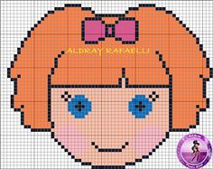 Ponto Cruz da Drayzinha: cross stitch lalaloopsy