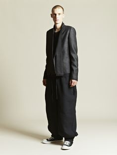 Love this outfit: Damir Doma jacket, Individual Sentiments top, Marvielab pants