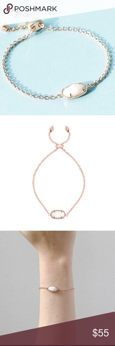 HOST PICKKendra Scott Rose Gold Bracelet Kendra Scott Rose Gold Bracelet.  New with tags.  Obsessed with rose gold and this bracelet.  For a classy lady.  Makes for a great gift.  Sliding closure.  Dust bag included. Kendra Scott Jewelry Bracelets