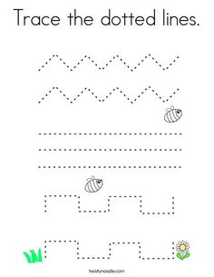 Trace the dotted lines Coloring Page - Twisty Noodle Line Tracing Worksheets, Letter B Worksheets, Kids Math Worksheets, Circle Crafts Preschool, Preschool Prep, Kindergarten Goals, Kindergarten Writing Activities, Tracing Sheets, Alphabet Tracing