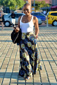 Street Style At Mercedes-Benz Fashion Week Joburg ~Latest African Fashion, African Prints, African fashion styles, African clothing, Nigerian style, Ghanaian fashion, African women dresses, African Bags, African shoes, Kitenge, Gele, Nigerian fashion, Ankara, Aso okè, Kenté, brocade. ~DKK