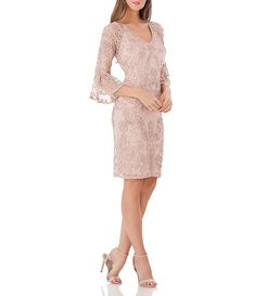 online shopping for JS Collections Bell Sleeve Bead & Soutache Cocktail Dress from top store. See new offer for JS Collections Bell Sleeve Bead & Soutache Cocktail Dress Mother Of Bride Outfits, Mother Of Groom Dresses, Mothers Dresses, Mother Of The Bride Fashion, Mob Dresses, Dresses With Sleeves, Bride Dresses, Wedding Dresses, Bell Sleeve Dress