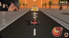 Mark playing turbo dismount with Bob