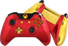 Chrome Xbox One Controller - Custom Red Chrome Controller