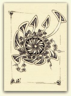by Nat Wout-Zen-meddling and other Salmigondis: March 2014 Doodles Zentangles, Zentangle Patterns, Pen Doodles, Tangle Art, Zen Art, Art World, Doodle Art, Tangled, Light In The Dark