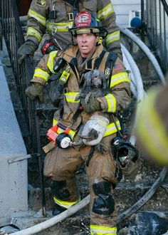 """Firemen are awesome.Love the """"puppy"""" rescues..."""