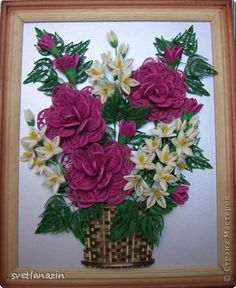 Картина, панно Квиллинг: Ажурные розы Бумажные полосы. Фото 7 Paper Quilling Tutorial, Quilling Paper Craft, Paper Crafts, Diy Crafts, Quilled Roses, Quilling Flowers, Paper Flowers, Quilling Patterns, Quilling Designs