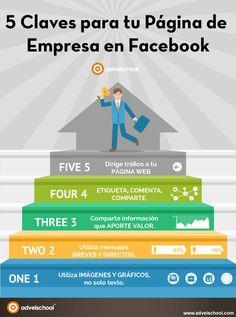5 claves para tu página de empresa en Facebook #infografía