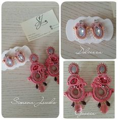 🌸🌸🌸Oggi, il rosa vince!🌸🌸🌸Today the Rose wins🌸🌸🌸 #simonajewels #commission #work #orecchini #soutachemania #earrings #italian #soutache #beads #embroidery #collection #instasize #look