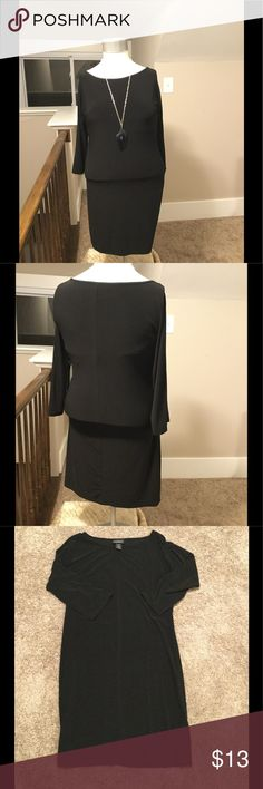 The Perfect Little Black Dress Simple, stylish and chic! The perfect Little Black Dress! Size 14/16. Light weight great for fall! Lane Bryant Dresses Long Sleeve