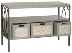 Joshua 3 Drawer Console French Grey