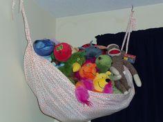 Stuffed animal hammock - old bed sheet?