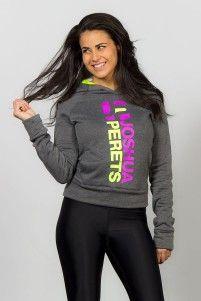 Pullover with hoodie, grey pink and yellow, Joshua Perets