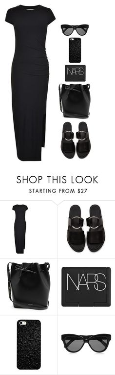"""""""OOTD 8-23-17"""" by sofia-blair ❤ liked on Polyvore featuring Gestuz, Warehouse, Mansur Gavriel, NARS Cosmetics and Linda Farrow"""