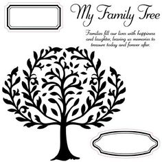 Close to My Heart My Acrylix Stamp Set  Family Tree  Set of 5    Stamp images outlined in red coordinate with the Cricut® Art Philosophy collection (Z1686).    $17.95