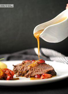 Carrilleras de ternera en salsa de cerezas. Receta
