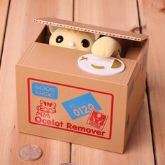 Adorable Cat Stealing Piggy Bank Cat Eat Creative Money Box Safe Box Safes Saving Money Coin Bank Gifts for Kids New Super Cute Presents For Kids, Gifts For Kids, Kids Money Box, Cat Piggy Bank, Money Saving Box, Savings Box, Action Toys, Buy A Cat, Coin Collecting