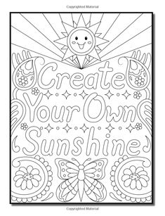 Live Your Dreams: An Adult Coloring Book with Fun Inspirational Quotes, Adorable Kawaii Doodles, and Positive Affirmations for Relaxation Valentine Coloring Pages, Love Coloring Pages, Printable Adult Coloring Pages, Coloring For Kids, Coloring Books, Coloring Pages Inspirational, Inspirational Quotes, Color Quotes, Paisley