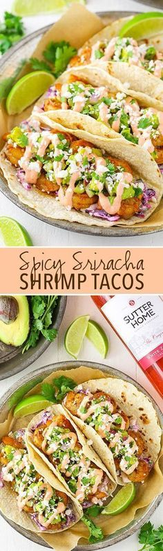 Spicy Siracha Shrimp Tacos.